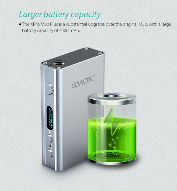 smok M80 large battery capacity