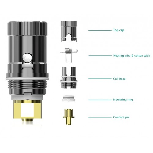 Rebuildable Coil Head ECR for ijust and Pico